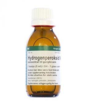 Hydrogenperoksid NAF 3% konsentrat til gurglevann 100ml