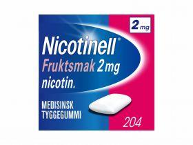 Nicotinell Tyggegummi frukt 2mg 204stk