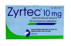 Zyrtec 10 mg tabletter 30 stk