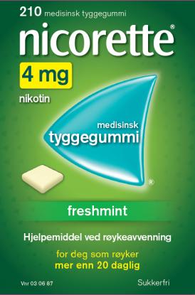 Nicorette Freshmint tyggegummi 4mg 210stk