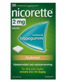 Nicorette Fruitmint tyggegummi 2mg 30stk