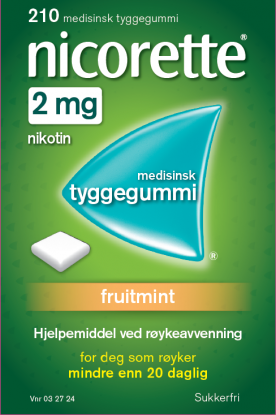 Nicorette Fruitmint tyggegummi 2mg 210stk
