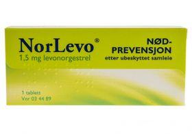 NorLevo Nødprevensjon 1,5mg