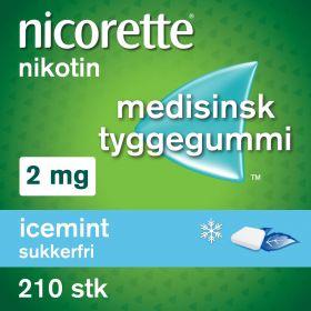 Nicorette Icemint tyggegummi 2mg 210stk