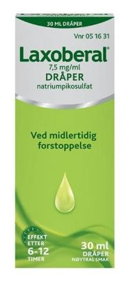 Laxoberal Dråper 7,5mg/ml 30ml
