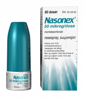 Nasonex nesespray 50mcg/dose 60 doser