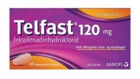 Telfast 120mg tabletter 30stk