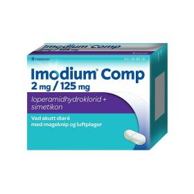 Imodium Comp Tabletter 2mg/125mg 8stk
