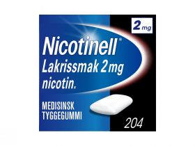 Nicotinell Tyggegummi lakris 2mg 204stk