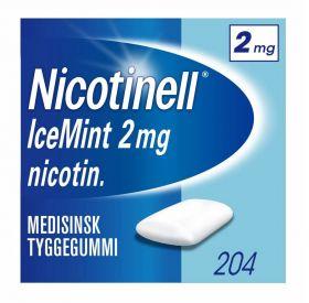 Nicotinell Tyggegummi Icemint 2mg 204stk