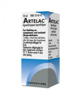 Artelac 3,2mg/ml øyedråper 10ml