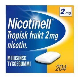 Nicotinell Tyggegummi tropisk frukt 2mg 204stk