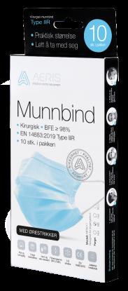 Aeris Kirurgisk Munnbind type llR 10 stk Blå