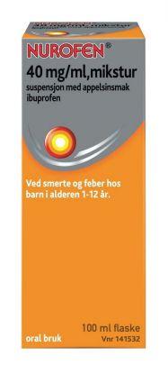 Mikstur 40mg/ml Appelsinsmak 100ml