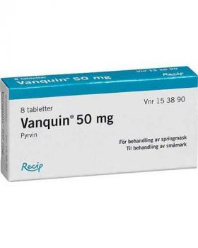 Vanquin 50mg tabletter 8stk