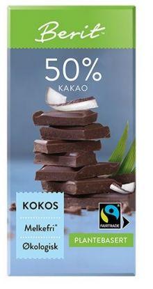 Melkefri Sjokolade Kokos 50% Kakao