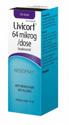 Livicort Nesespray 64mcg/dose
