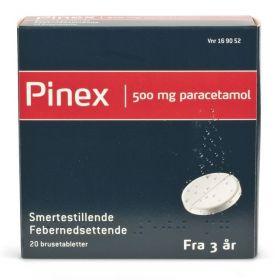 Pinex Brusetabletter 500 mg 20 stk
