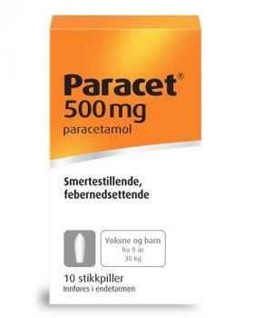 Paracet Stikkpille 500mg 10stk