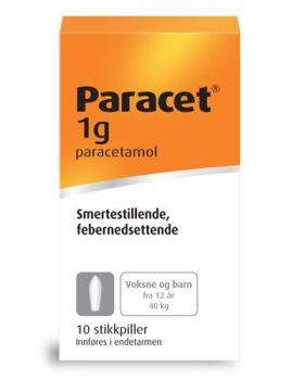 Paracet Stikkpille 1g 10stk
