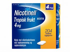 Nicotinell Tyggegummi tropisk frukt 4mg 204stk