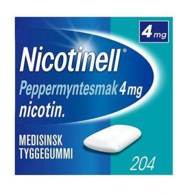 Nicotinell Tyggegummi peppermynte 4mg 204stk