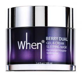 When Berry Dual Gel & Cream Sleeping Mask 100ml