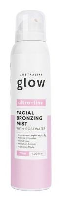 Facial Bronzing Mist with Rosewater - Clear Application