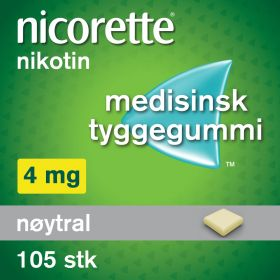 Nicorette Tyggegummi nøytral 4mg 105stk
