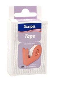 Tape med dispenser 1,25cmx10m hvit