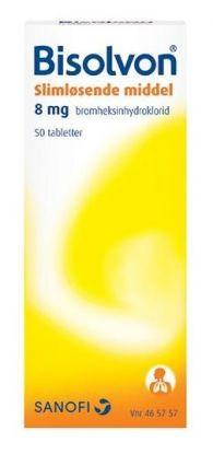Bisolvon tabletter 8mg 50stk