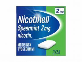 Nicotinell tyggegummi spearmint 2mg 204stk