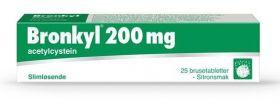 Bronkyl brusetabletter 200mg 25stk