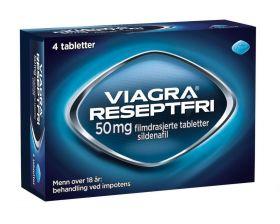 Viagra Reseptfri 50mg 4 stk Et legemiddel for menn over 18 år med impotens
