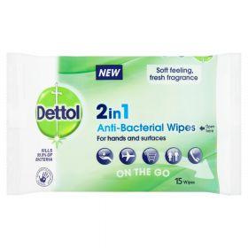 2i1 Antibakterielle Wipes Hånd og Overflate