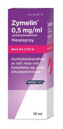 Zymelin Nesespray 0,5 mg/ml 10ml