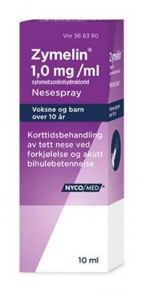 Zymelin Nesespray 1 mg/ml 10ml
