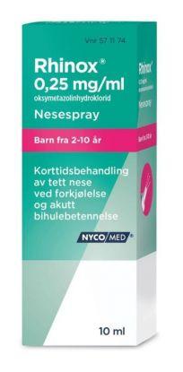 Rhinox Nesespray 0,25 mg 10ml