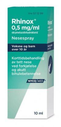 Rhinox Nesespray 0,5mg/ml 10ml