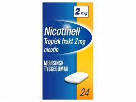 Nicotinell Tyggegummi tropisk frukt 2mg 24stk