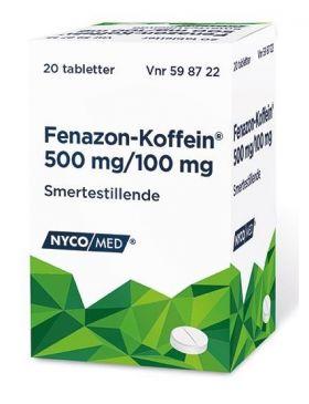 Fenazon-Koffein tabletter 20stk
