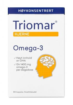 Hjerne omega-3 kapsler 80stk