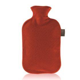 Fashy Varmeflaske Fleecetrekk Rød