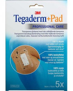 Tegaderm +pad vanntett kompress 9x10cm 5stk