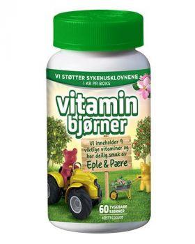 Vitaminbjørner Eple & Pære 60stk