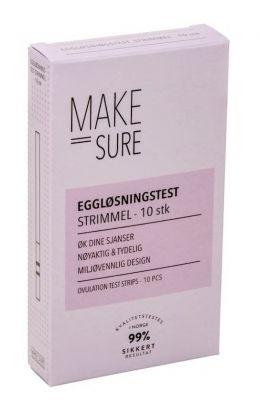 Make Sure Eggløsningstest Strimmel 10stk