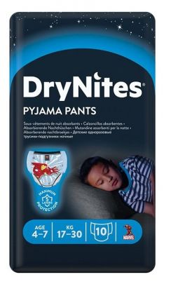 Drynites bleier gutt 4-7 år 10stk