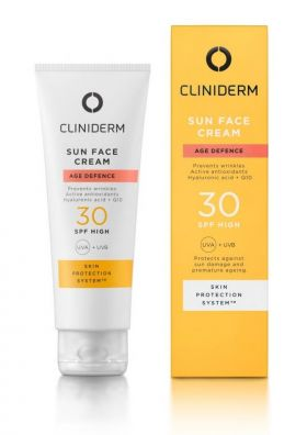 Cliniderm Age Defence Sun Face Cream SPF30 50ml