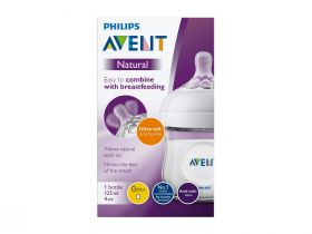 Avent Tåteflaske natural 1mnd+ 125ml