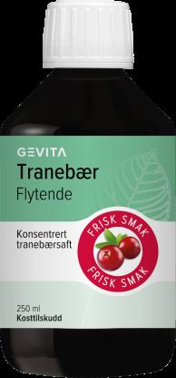 Tranebær flytende 250 ml
